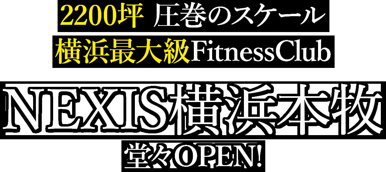 2200坪 圧巻のスケール 横浜最大級FitnessClub ネクシス横浜本牧 堂々OPEN